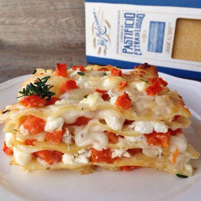 Ricetta Lasagne alla zucca, caprino ed erbe - La Molisana