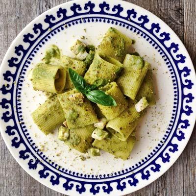 Ricetta Paccarielli Rigati con pesce spada al pesto di agrumi e pistacchio - La Molisana