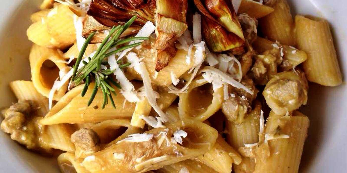 Ricetta Pennoni rigati al ragù bianco con carciofi e ricotta salata - La Molisana