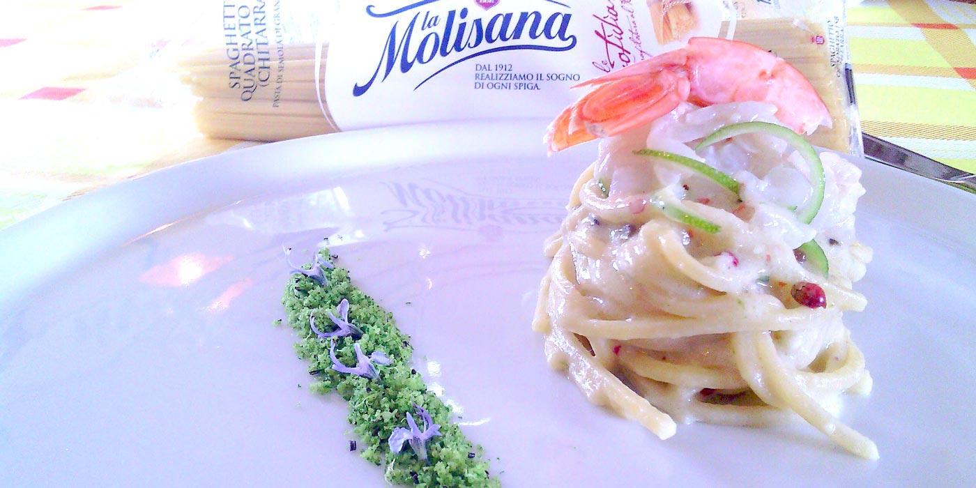 Ricetta Spaghetto Quadrato risottato alla cacio e pepe adriatica - La Molisana
