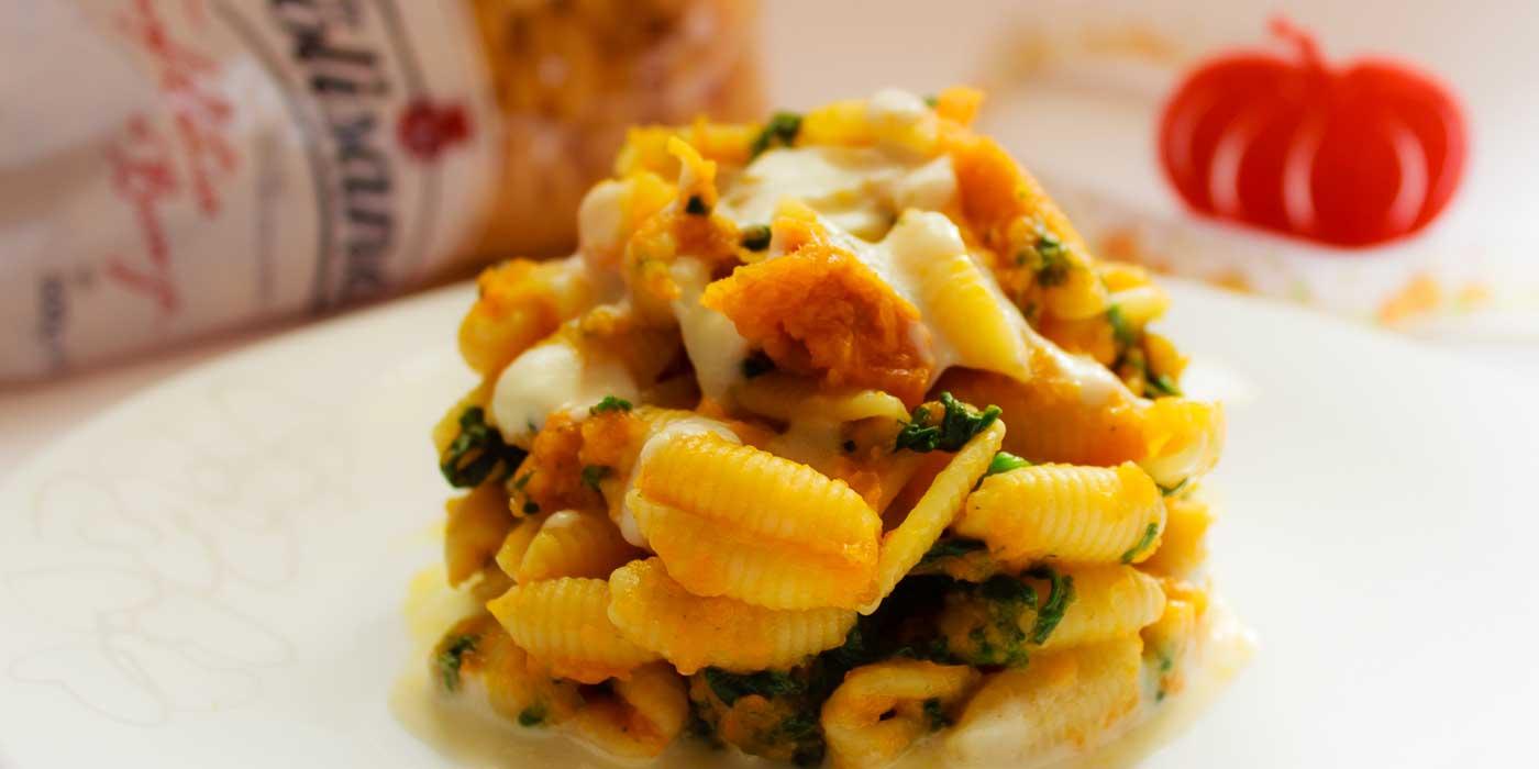 Ricetta Gnocchetti Sardi con Zucca e Spinaci - La Molisana