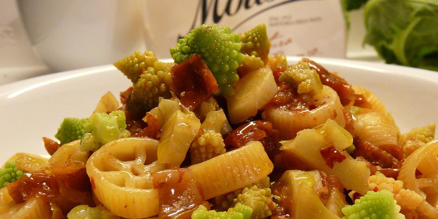 Ricetta Rotelle con pomodori secchi, broccolo romanesco e nduja - La Molisana