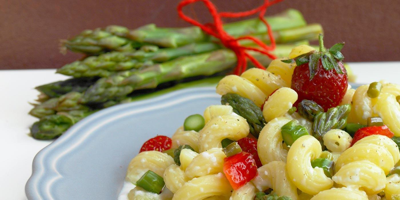 Ricetta Succhietti su crema di burrata con fragole e asparagi - La Molisana