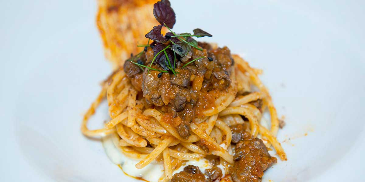 Ricetta Spaghetto Quadrato al ragù di capriolo, bleu d'Aoste e nduja - la Molisana