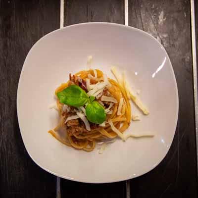 Ricetta Trighetto con genovese di manzo e provolone del monaco - La Molisana