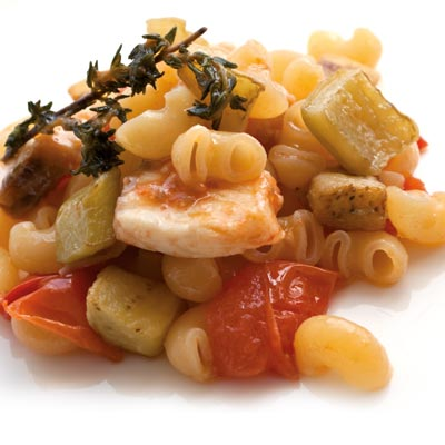 Ricetta Lumachine La Molisana con melanzane, pesce spada e pomodorini