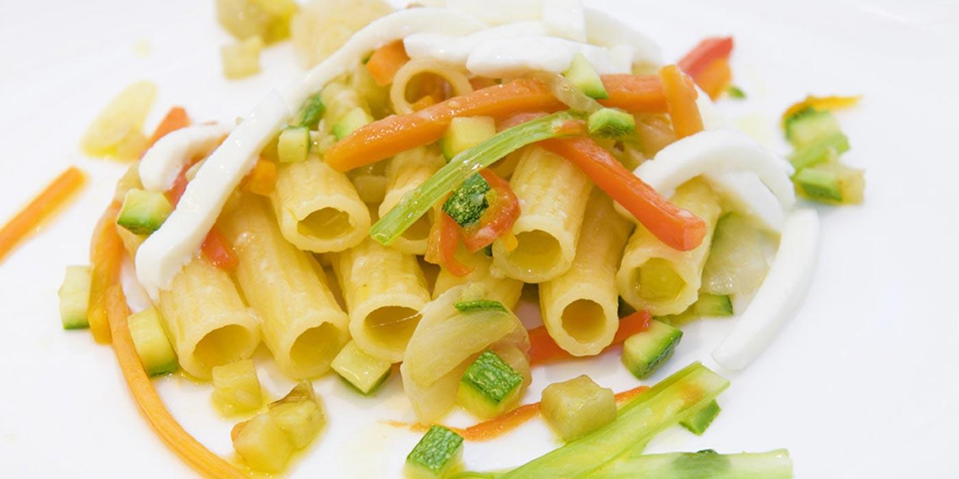 Ricetta Maccheroni La Molisana con zucchine, melanzane e peperoni