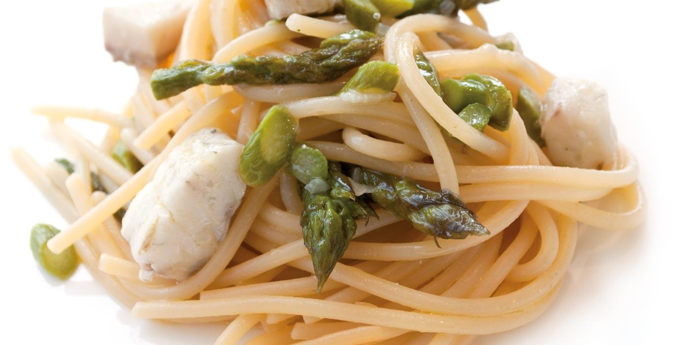 Ricetta Spaghetti La Molisana con asparagi e filetto di cernia
