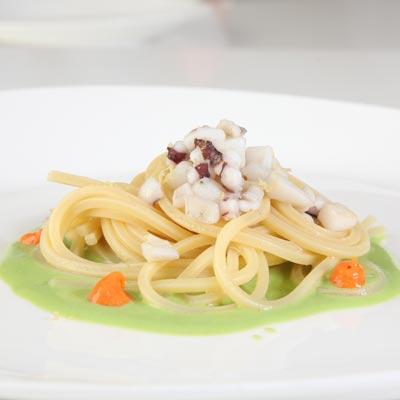 Ricetta Spaghetto Quadrato La Molisana con seppie e piselli
