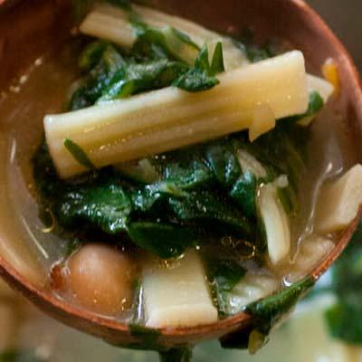 Ricetta Sagnette La Molisana con minestra di ceci, bietole e patate