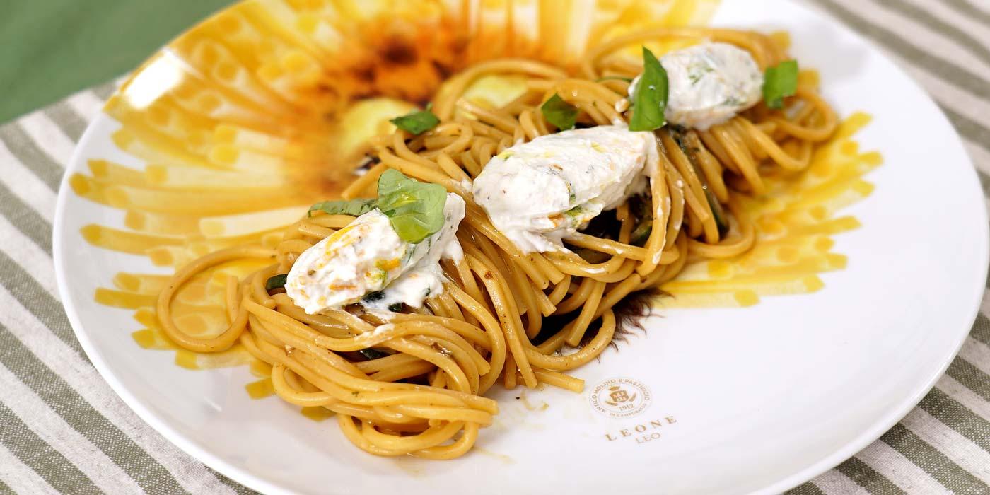 Ricetta Spaghetti quadrati con zucchine al cubo - La Molisana