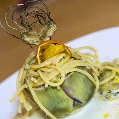 Ricetta Spaghetto Quadrato con frappè di baccalà e carciofo spinoso - La Molisana