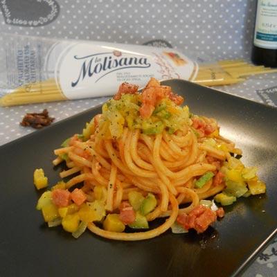 Ricetta Spaghetto Quadrato in amatriciana di verdure - La Molisana