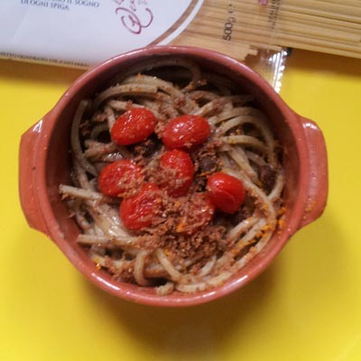Ricetta Spaghetto Quadrato al macco di ceci neri e bottarga - La Molisana