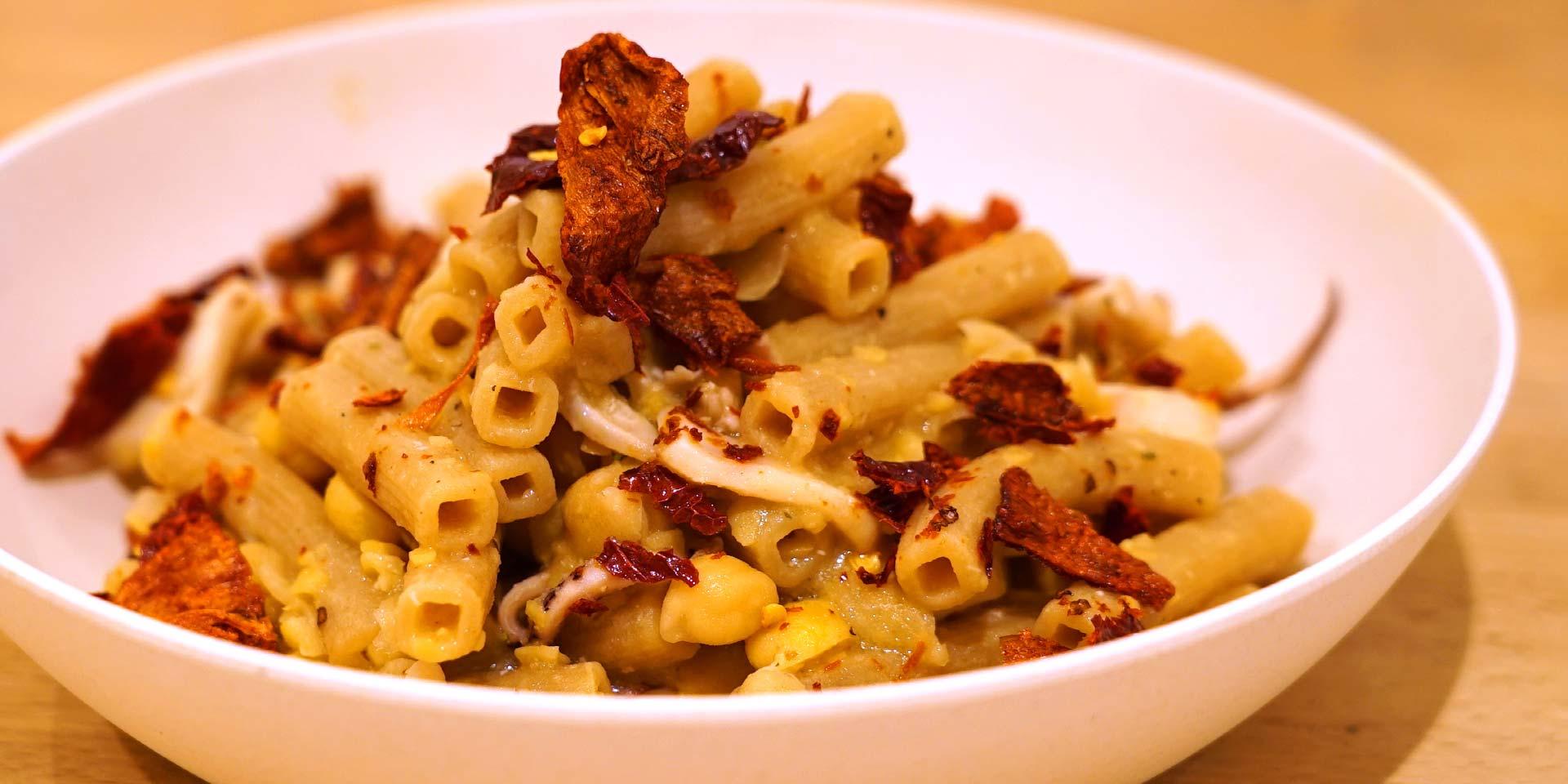 Ricetta Quadrotto integrale con calamari e peperone crusco - La Molisana