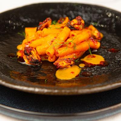 Ricetta Quadrotto piccante con Cozze e 'Nduja - La Molisana