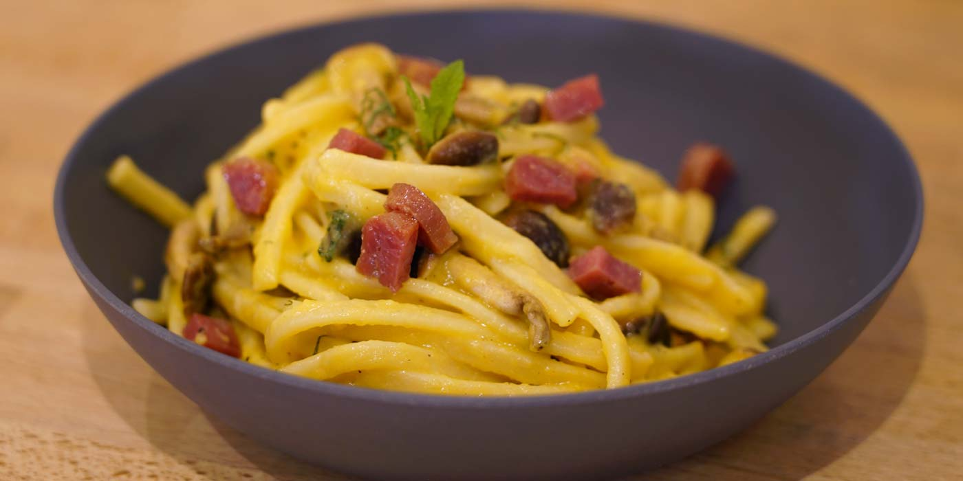 Ricetta Scialatielli con crema di zucca e funghi - La Molisana