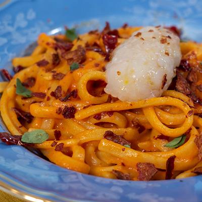 Ricetta Scialatielli scampi e peperoni - La Molisana